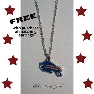 💙🏈 Buffalo Bills Fashion Jewelry Necklace ❤️🏈